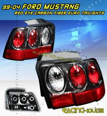 Headlights & Tail Lights - Tail Lights - Custom - Euro Red Eye Carbon Taillights