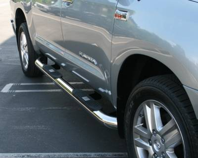Suv Truck Accessories - Running Boards - Aries - Toyota Tundra Aries Big Step - Stainless - 4 Inch
