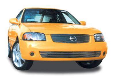 Grilles - Custom Fit Grilles - T-Rex - Nissan Sentra T-Rex Billet Grille Insert - 14 Bars - 20753