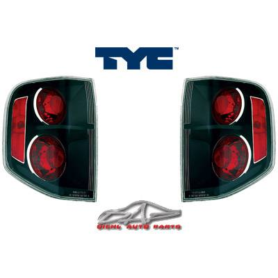 Headlights & Tail Lights - Tail Lights - Custom - JDM Smoke gunmetal black Euro Taillights