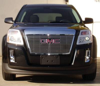 Grilles - Custom Fit Grilles - T-Rex - GMC Terrain T-Rex Billet Grille Overlay with Logo Opening - Bolt On - 1PC - 21153