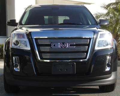 Grilles - Custom Fit Grilles - T-Rex - GMC Terrain T-Rex Billet Grille Overlay - Bolt On with Logo Opening - 3PC - 21154