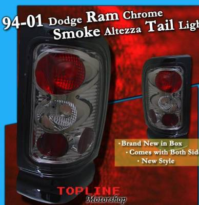 Headlights & Tail Lights - Tail Lights - Custom - Chrome Housing Smoke Altezza Taillights