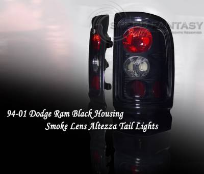 Headlights & Tail Lights - Tail Lights - Custom - Black Housing Smoke Lense Taillights