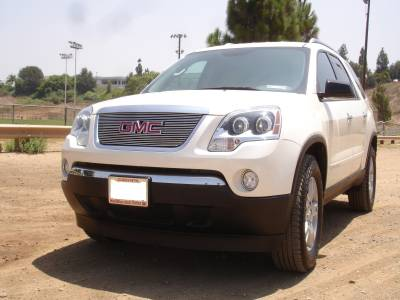 Grilles - Custom Fit Grilles - T-Rex - GMC Acadia T-Rex Billet Grille Overlay - Bolt On with Logo Opening - 21386
