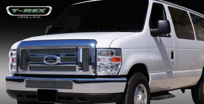 Grilles - Custom Fit Grilles - T-Rex - Ford E-Series T-Rex Billet Grille Overlay - 6PC - 21501