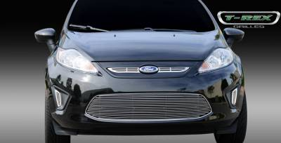 Grilles - Custom Fit Grilles - T-Rex - Ford Fiesta T-Rex Billet Grille Overlay - 2PC - 21588