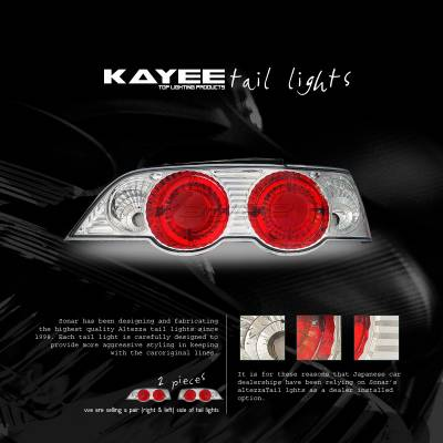 Headlights & Tail Lights - Tail Lights - Custom - Euro Red Chrome Altezza Taillights