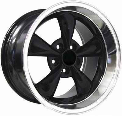 Wheels - Mustang Wheels - AM Custom - Ford Mustang Black Deep Dish Bullitt Wheel