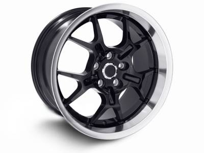 Wheels - Mustang Wheels - AM Custom - Ford Mustang Black Deep Dish GT4 Wheel