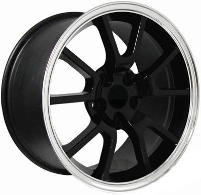 Wheels - Mustang Wheels - AM Custom - Ford Mustang Black FR500 Wheel