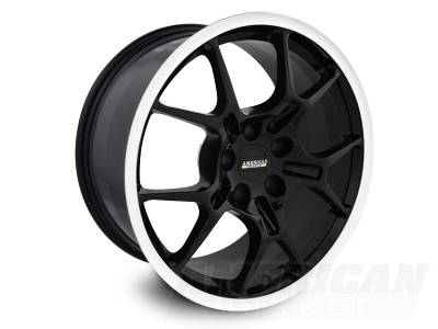 Wheels - Mustang Wheels - AM Custom - Ford Mustang Black GT4 Wheel