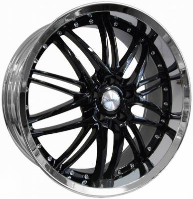 Wheels - Mustang Wheels - AM Custom - Ford Mustang Black Kaos Wheel