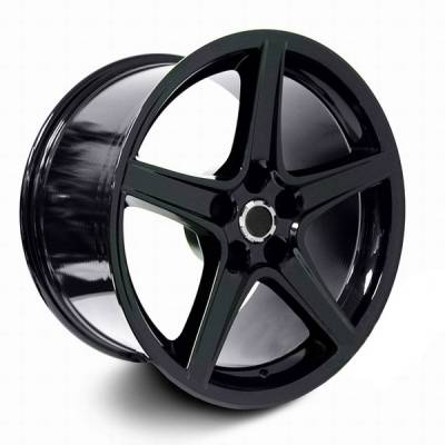 Wheels - Mustang Wheels - AM Custom - Ford Mustang Black S Style Wheel