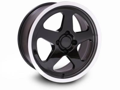 Wheels - Mustang Wheels - AM Custom - Ford Mustang Black SC Style Wheel