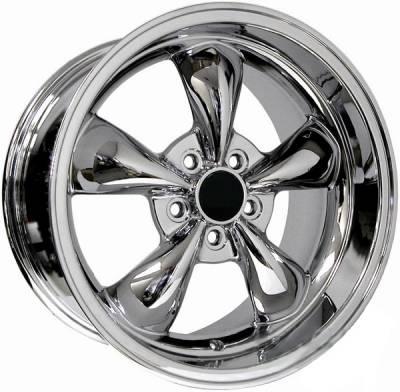 Wheels - Mustang Wheels - AM Custom - Ford Mustang Chrome Deep Dish Bullitt Wheel
