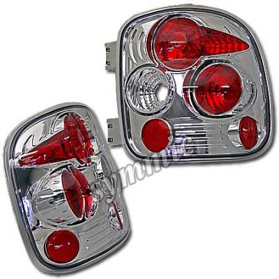 Headlights & Tail Lights - Tail Lights - Custom - Euro Chrome Stepside Taillights