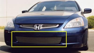 Grilles - Custom Fit Grilles - T-Rex - Honda Accord 4DR T-Rex Bumper Billet Grille Insert - 10 Bars - 25731