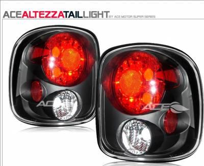 Headlights & Tail Lights - Tail Lights - Custom - Black Stepside Taillights