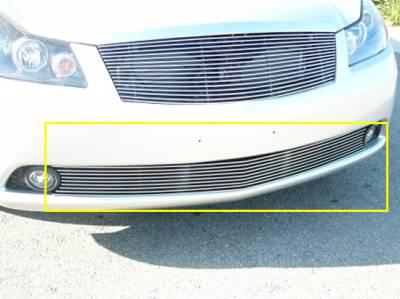 Grilles - Custom Fit Grilles - T-Rex - Infiniti M45 T-Rex Bumper Billet Grille - 9 Bars - 25738
