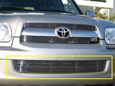 Grilles - Custom Fit Grilles - T-Rex - Toyota Sequoia T-Rex Bumper Billet Grille Insert - 10 Bars - 25901