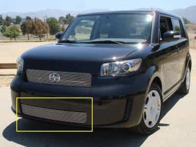Grilles - Custom Fit Grilles - T-Rex - Scion xB T-Rex Bumper Billet Grille Insert - Models without Fog Lamps - 25973