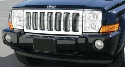 Grilles - Custom Fit Grilles - T-Rex - Jeep Commander T-Rex Vertical Billet Grille Insert - 30485