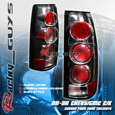 Headlights & Tail Lights - Tail Lights - Custom - Carbon Clear Lense Taillights