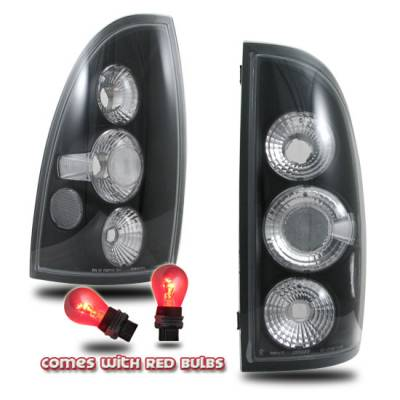 Headlights & Tail Lights - Tail Lights - Custom - Black Euro Clear Taillights