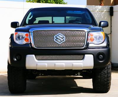 Grilles - Custom Fit Grilles - T-Rex - Suzuki Equator T-Rex Sport Series Formed Mesh Grille - Stainless Steel - Triple Chrome Plated - 44980