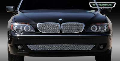 Grilles - Custom Fit Grilles - T-Rex - BMW 7 Series T-Rex Sport Series Formed Stainless Steel Mesh Grille with thin SS Frame - Triple Chrome Plated - 2PC - 44998