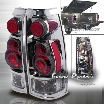 Headlights & Tail Lights - Tail Lights - Custom - 3D Retro Chrome Taillights