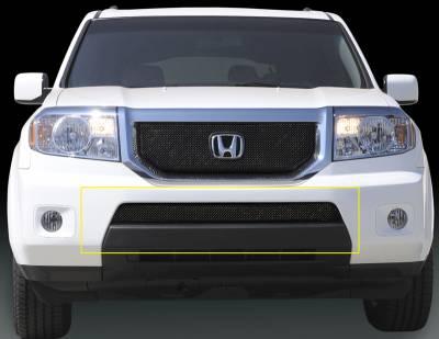 Grilles - Custom Fit Grilles - T-Rex - Honda Pilot T-Rex Sport Series Formed Mesh Bumper Grille - Black Powdercoat - 47705