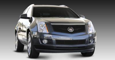 Grilles - Custom Fit Grilles - T-Rex - Cadillac SRX T-Rex Upper Class Mesh Grille - Replacement - Full Opening with Winged OE Logo Plate - Black - 51186