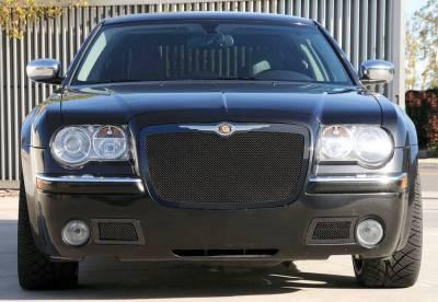 T-Rex. - Chrysler 300 T-Rex Upper Class Mesh Grille - All Black - 51470