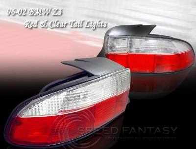 Headlights & Tail Lights - Tail Lights - Custom - Convertible Red Clear Taillights