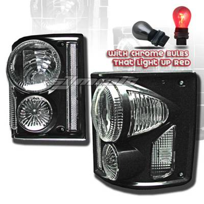 Headlights & Tail Lights - Tail Lights - Custom - Black Clear Taillights