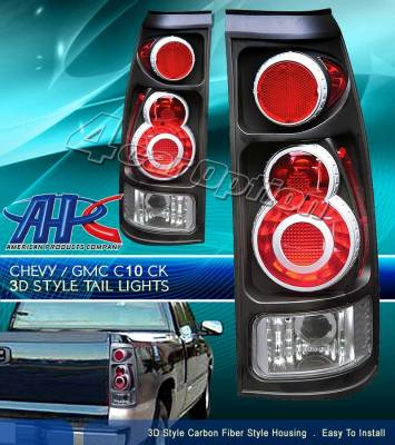 Headlights & Tail Lights - Tail Lights - Custom - Retro Black Taillights