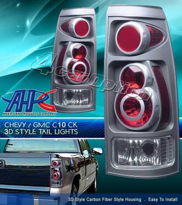 Headlights & Tail Lights - Tail Lights - Custom - Retro Carbon Fiber Taillights