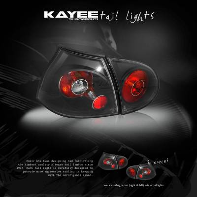 Headlights & Tail Lights - OEM - Custom - Euro Black Taillights