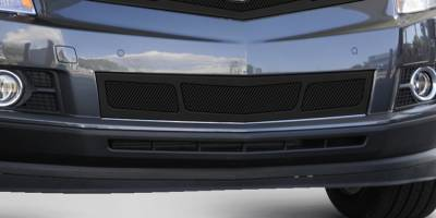 Grilles - Custom Fit Grilles - T-Rex - Cadillac SRX T-Rex Upper Class Mesh Bumper Grille - Overlay - Full Opening - Black - 52186