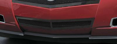 Grilles - Custom Fit Grilles - T-Rex - Cadillac CTS T-Rex Upper Class Bumper Mesh Grille - Center Only - All Black with Formed Mesh - 52197