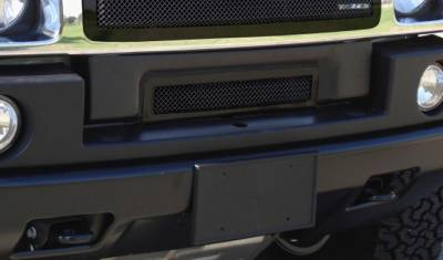 Grilles - Custom Fit Grilles - T-Rex - Hummer H2 T-Rex Upper Class Bumper Mesh Grille - All Black - 52295