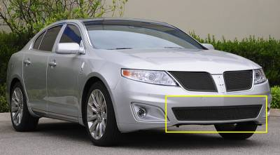 Grilles - Custom Fit Grilles - T-Rex - Lincoln MKS T-Rex Upper Class Bumper Mesh Grille - All Black - 52718