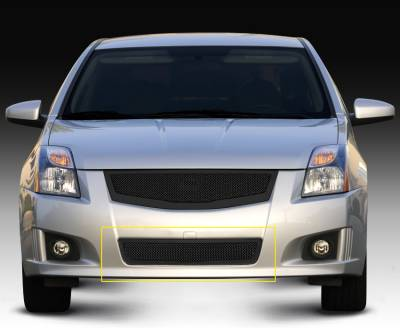 Grilles - Custom Fit Grilles - T-Rex - Nissan Sentra T-Rex Upper Class Mesh Bumper Grille - All Black - 52764