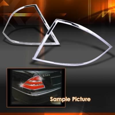 Headlights & Tail Lights - Tail Lights - Custom Disco - Mercedes-Benz S Class Custom Disco Chrome Taillights - TLT-BW22099C