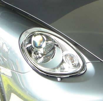 Headlights & Tail Lights - Headlights - Custom - Boxster Chrome Headlights Trim