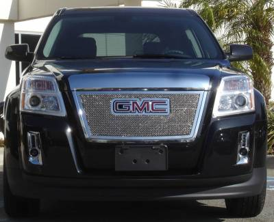 Grilles - Custom Fit Grilles - T-Rex - GMC Terrain T-Rex Upper Class Polished Stainless Mesh Grille with Formed Mesh - Overlay with Logo Opening - 54153