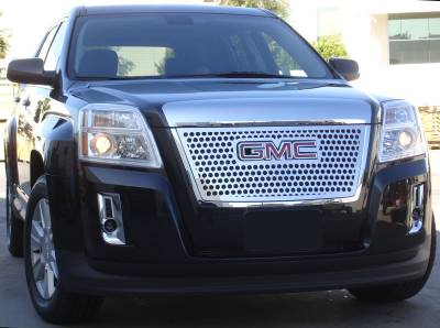 Grilles - Custom Fit Grilles - T-Rex - GMC Terrain T-Rex Denali Style Stainless Steel Grille with Round Holes - Overlay with Logo Opening - 54154