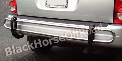 Aspen - Rear Add On - Black Horse - Chrysler Aspen Black Horse Rear Bumper Guard - Double Tube